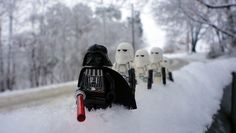 Darth Vader and Storm Troopers in the Snow #Lego
