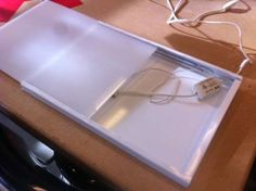 Inexpensive DIY LED Lightbox for Tracing + http://manmadediy.com/chris/posts/1706-ikea-hack-how-to-make-a-diy-lightbox-for-tracing-on-the-cheap