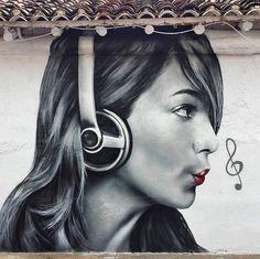 Fantastic And Creative Street Art By Spanish Artist Xolaka – Leaky Lifeboat Street Art Banksy, 3d Street Art, Graffiti Art, Urban Street Art, Best Street Art, Murals Street Art, Amazing Street Art, Street Artists, Urban Art