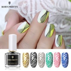 10 Simple Everyday Office Makeup Natural & Easy Ideas for Professional and Business Looks - Lifestyl Born Pretty Nail Polish, Pretty Nails, White Nail Designs, Nail Designs Spring, Black White Nails, Black Silver, Office Makeup, Cheap Nail Polish, Silver Nail Art