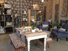 Cape Town, Showroom, Fabrics, Dining Table, Rustic, Furniture, Home Decor, Tejidos, Country Primitive