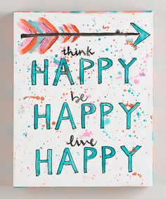 19 Ideas Cute Canvas Art Letters For 2019 Canvas Board, Wall Canvas, Wall Art, Dorm Canvas Art, Cute Canvas, Mini Canvas, Think Happy Be Happy, Live Happy, Little Presents