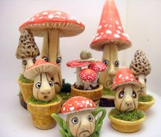 Dollhouse miniature teapots and fantasy creations