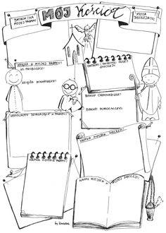 Moja Parafia Catholic Crafts, School Bulletin Boards, Patchwork Jeans, Sunday School, Sewing Tutorials, Lettering, Tote Bag, Bible, Catholic Art