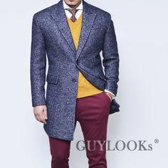 Top-Quality-Designer-Homme-Mens-Slim-Wool-Tweed-Urban-Single-Coat-Jacket-Guylook