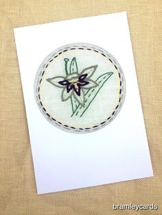 August Birthday Embroidered Gladiloli Card £4.00 August Birthday, Cross Stitch Cards, Blank Cards, Gift Guide, Birthday Cards, Beads, Bday Cards, Beading, Cross Stitch Boards