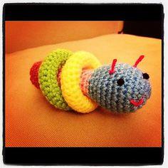 Caterpillar - baby rattle... Love it!!!