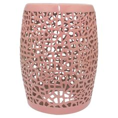 Offer a stunning seat to guests in your living room or rest your latest read atop this eye-catching garden stool, showcasing an openwork abstract design.