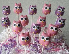 24 Owl Cake Pops & Stand Display Box Owl von TheMaDCakePopShop