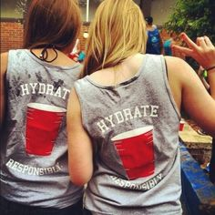t-shirt hydrate red solo cup tank top hydrate responsibly