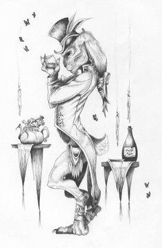 March Hare & Dormouse - Vanessa Boynton (PORTFOLIO — INK ON MY FINGERS)