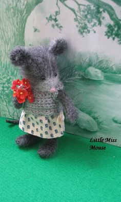 Little Miss Mouse   Handmade mouse doll   Most adorable