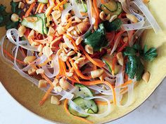 Bean Thread Noodles with Pickled Vegetables by bonappetit #Noodles #Bean_Thread #Vegetables         Bean Thread Noodles with Pickled Vegetables Recipe  at Epicurious.com