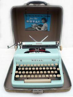 Baby Blue Royal Typewriter