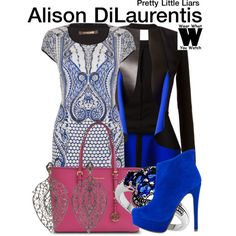 Inspired by Sasha Pieterse as Alison DiLaurentis on Pretty Little Liars. Fashion Tv, Fashion Beauty, Luxury Fashion, Fashion Outfits, Fashion Styles, Pretty Little Liars Outfits, Cute Outfits, Movie Outfits, Party Outfits