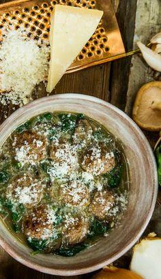 Healthy homemade meatballs recipe from Chef Rocco DiSpirito.
