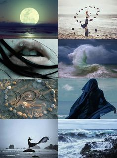 """Witch Aesthetics // Seaside Witch  """"Requested  """"  Chaos Witch   Divination Witch   Storm Witch   Scent Witch   Circus Witch    Blood Witch   Writer Witch   Spirit Witch   Jazz Age Witch   Rainbow Witch"""