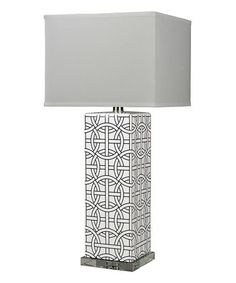 Another great find on #zulily! Dark Blue Rings Table Lamp #zulilyfinds