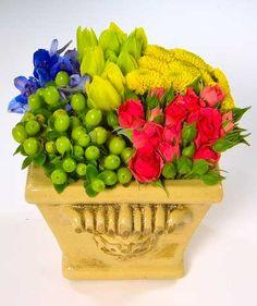 Flower Arranging Classes - Spring-colored Pave Floral Design