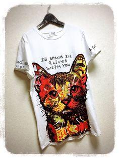 ハッシュタグ #ネコtシャツ