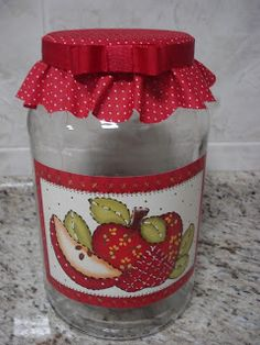 Mason Jar Crafts, Mason Jar Diy, Bottle Crafts, Decoupage Vintage, Vintage Crafts, Diy Crafts Hacks, Crafts To Make, Apple Decorations, Mason Jar Centerpieces