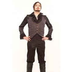 Gilet Homme Gothique Steampunk Victorien Brocard