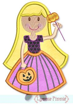 Princess Pumpkin Applique