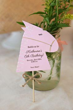 Cowboy or Cowgirl Horse or  Pony Party Farm Birthday Invitation by Palm Beach Polkadots on Etsy, $2.75