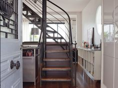metal & wood. staircase.