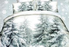Bílé ložní povlečení s motivem zasněžených stromů Comforters, Outdoor, Blankets, Decor, Creature Comforts, Outdoors, Quilts, Decoration, Blanket