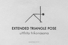 extended triangle pose // utthita trikonasana