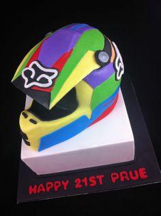 Sports Cakes - Motocross Helmet Cake