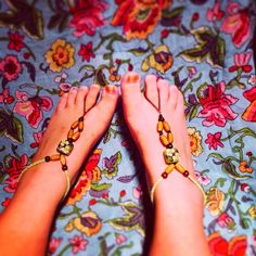 Tribal Green Barefoot sandals / gypsy shoes - Recycled materials <3