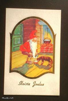 ˇˇ Visual Arts, Gnomes, Santa, Baseball Cards, Christmas, Painting, Vintage, Xmas, Painting Art