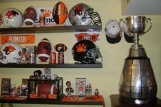 Todd would love this stuff! lol    The Grey Cup with part of my BC Lions collection