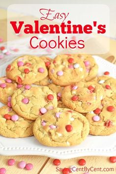 If you want an easy Valentine's Cookies recipe that makes soft and chewy cookies, you'll love this recipe. // Valentines Cookies Ideas // Valentines Cookies Homemade // Homemade Valentines Day Cookies // Valentine Cookie Recipes // #valentinescookies #easyvalentinestreat