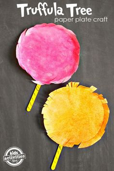 This Truffula Tree paper plate craft goes great with the movie The Lorax!