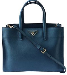 3125e9a07fcf Prada Saffiano Leather Tote in Ottanio Prada Tote Bag