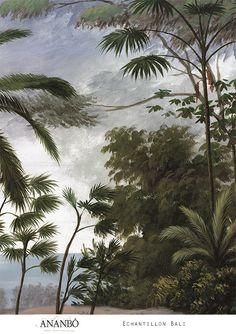 Echantillon paysage coloré - Echantillon Bali 60x80cm