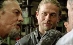 Jax looking at Chibs. This is the look of brotherhood: love, respect, and man, I'm gonna miss him.
