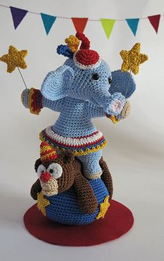 Isabella (star of the show) and Hugo the bear  | Amigurumi design contest | by Woolytoons