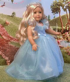 Cinderella 2015 for American Girl Doll by MyGirlClothingCo on Etsy American Girl Outfits, American Doll Clothes, American Girls, Cinderella 2015, Disney Outfits Girls, My Life Doll Clothes, Doll Costume, Costumes, Girl Dolls