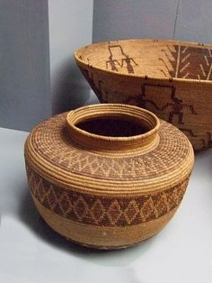 Native American Basket Tulare or Yokuts | | Photographed at the Maryhill Museum of Art in Goldendale, Washington.