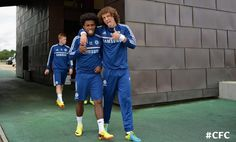Luiz & Willian ham it up at Cobham