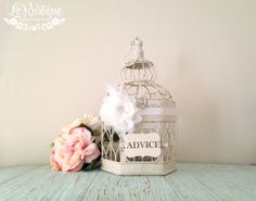 Country Glam Wedding Birdcage Card Holder Small от LoRustique, $50.50