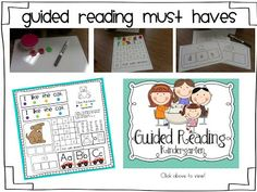 Kindergarten Guided Reading/Daily 5 Block! All in one post!
