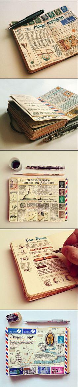 Ideas Travel Journal Art Moleskine For 2019 Journal Croquis, Journal D'inspiration, Sketch Journal, Bullet Journal, Art Journals, Journal Ideas, Drawing Journal, Notebook Sketches, Travel Journals