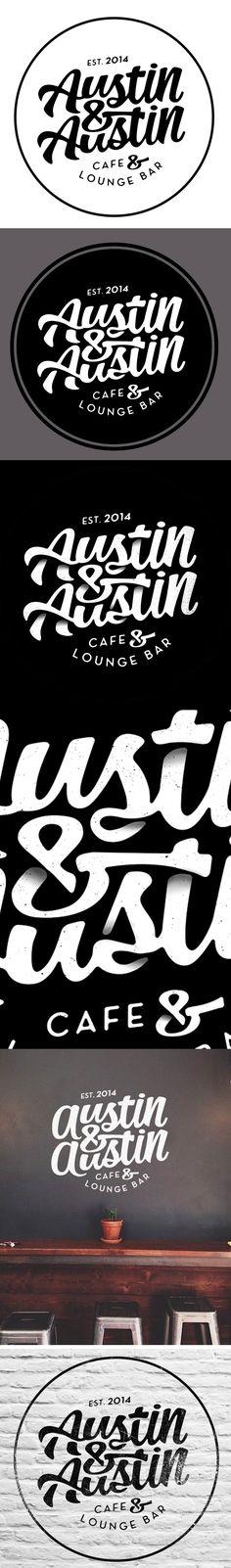 Logotype for Austin & Austin Cafe & Lounge Bar Alex Ramon Mas Design #Logos #Brand #Restaurant