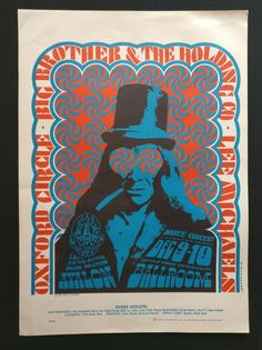 1966 Poster - Janis Joplin - Big Brother and the Holding Company - W.B.