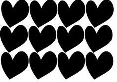 muurstickers hartjes Stipjes en datjes